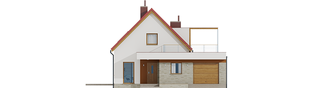 Projekt domu E13 III G1 ECONOMIC - elewacja frontowa