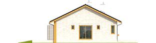 Projekt domu Eryk (z wiatą) - elewacja lewa