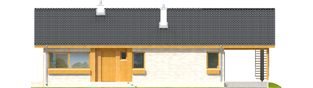 Projekt domu Eryk (z wiatą) - elewacja frontowa