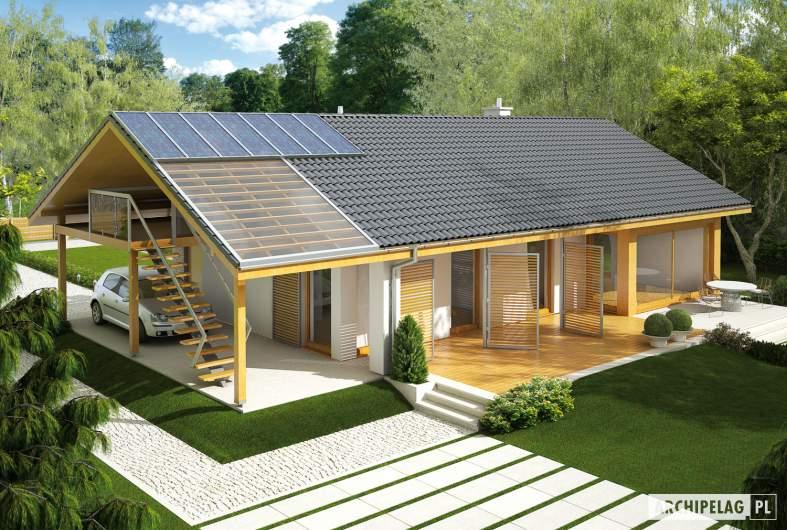 Projekt domu Eryk (z wiatą) - widok z góry