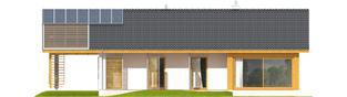 Projekt domu Eryk (z wiatą) 30 stopni - elewacja frontowa