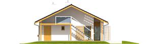 Projekt domu Eryk (z wiatą) 30 stopni - elewacja prawa