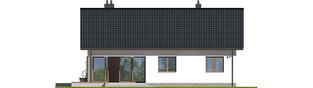 Projekt domu Swen II - elewacja tylna