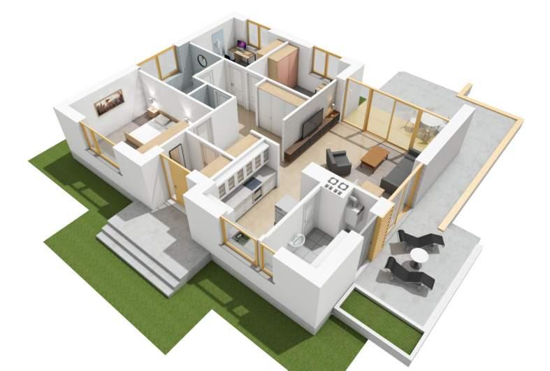 Projekt domu Swen II - wizualizacja