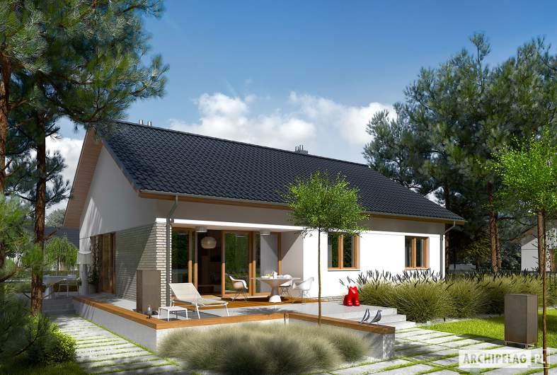 Projekt domu Swen II - Projekty domów ARCHIPELAG - Swen II - wizualizacja ogrodowa
