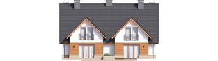 Projekt domu Sambor G1 (bliźniak) - elewacja tylna