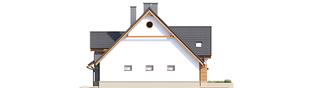 Projekt domu Sambor G1 (bliźniak) - elewacja prawa