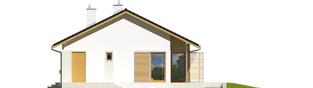 Projekt domu Eryk (30 stopni) - elewacja prawa