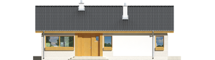 Projekt domu Eryk (30 stopni) - elewacja frontowa