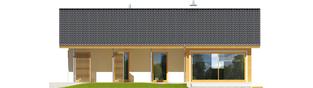 Projekt domu Eryk (30 stopni) - elewacja tylna