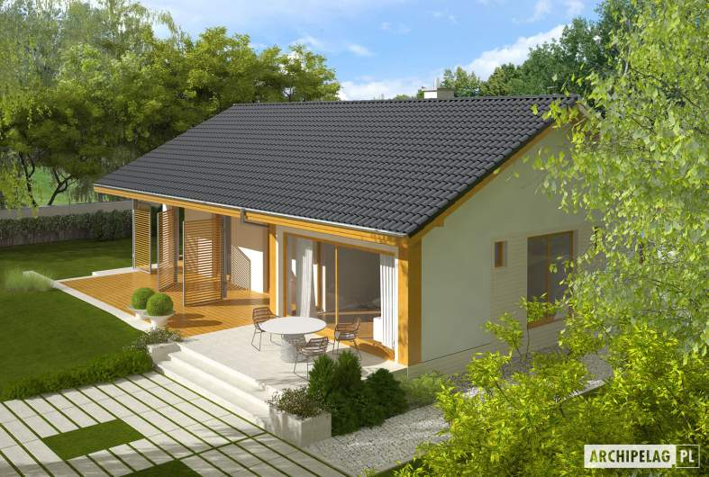 Projekt domu Eryk (30 stopni) - widok z góry