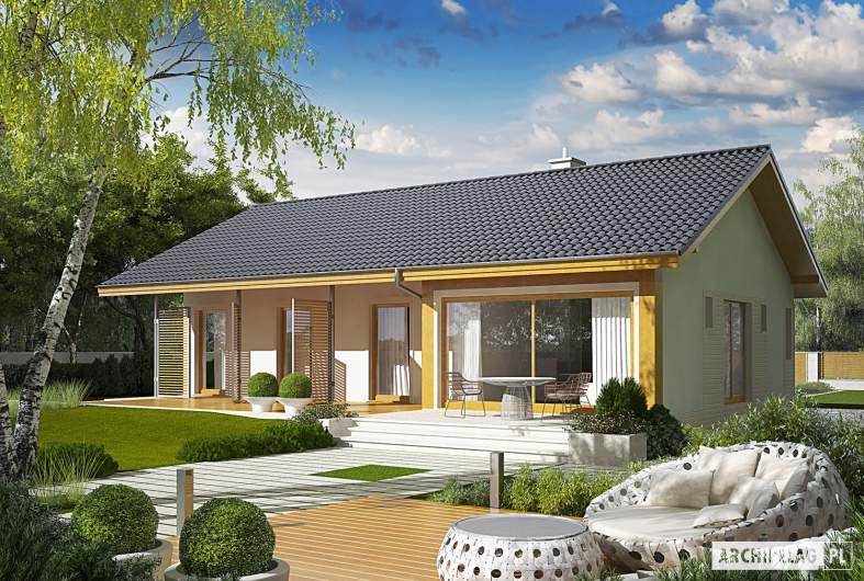 Projekt domu Eryk (30 stopni) - wizualizacja ogrodowa