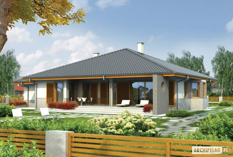 Projekt domu Florenc III G1 - wizualizacja ogrodowa