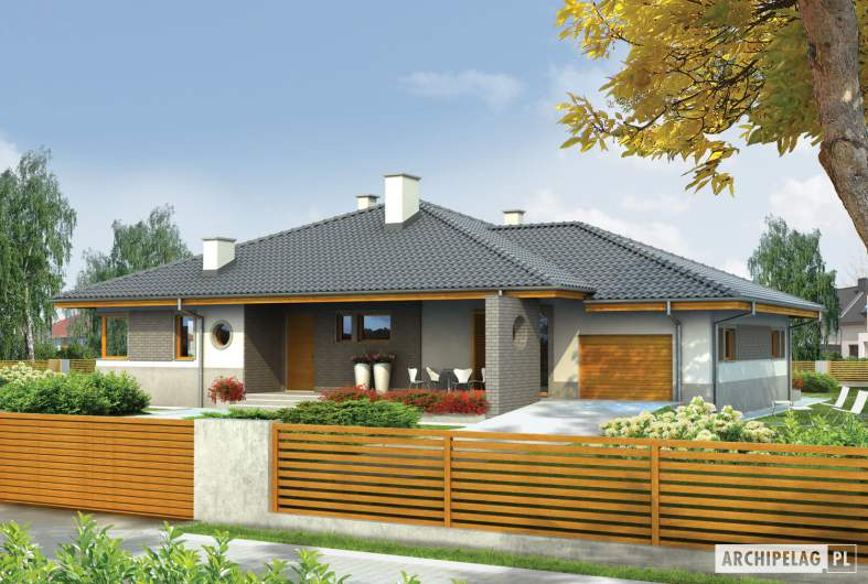 Projekt domu Florenc III G1 - wizualizacja frontowa