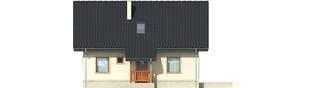 Projekt domu Martusia - elewacja frontowa