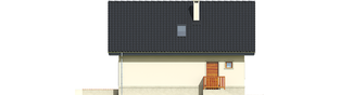 Projekt domu Martusia - elewacja tylna