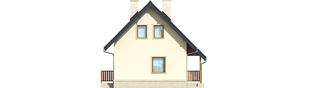 Projekt domu Martusia - elewacja lewa