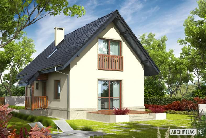 Projekt domu Martusia - Projekty domów ARCHIPELAG - Martusia - wizualizacja ogrodowa