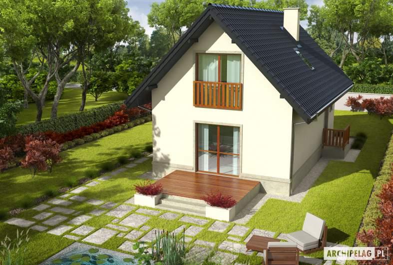 Projekt domu Martusia - Projekty domów ARCHIPELAG - Martusia - widok z góry