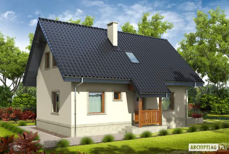 Projekt domu Martusia - Projekty domów ARCHIPELAG - Martusia - wizualizacja frontowa