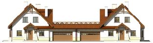 Projekt domu Karolinka G2 (bliźniak) - elewacja frontowa