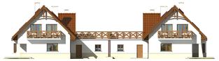 Projekt domu Karolinka G2 (bliźniak) - elewacja tylna