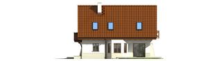 Projekt domu Karolinka G2 (bliźniak) - elewacja prawa