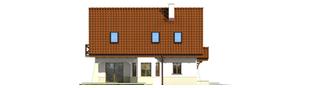 Projekt domu Karolinka G2 (bliźniak) - elewacja lewa