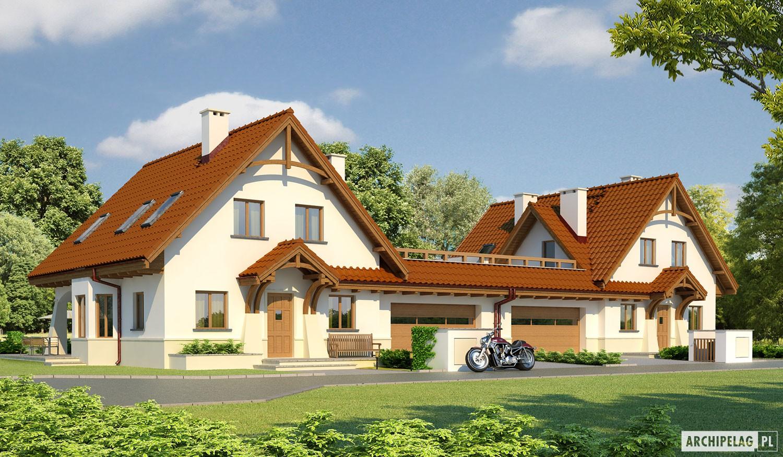Karolinka g2 bli niak projekt domu archipelag for Modele de duplex