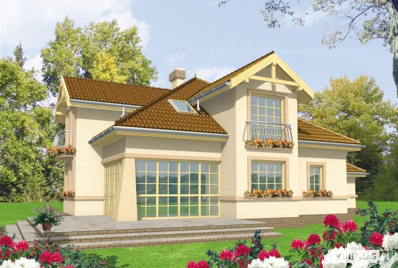 Projekt domu Artemida G2 - wizualizacja ogrodowa