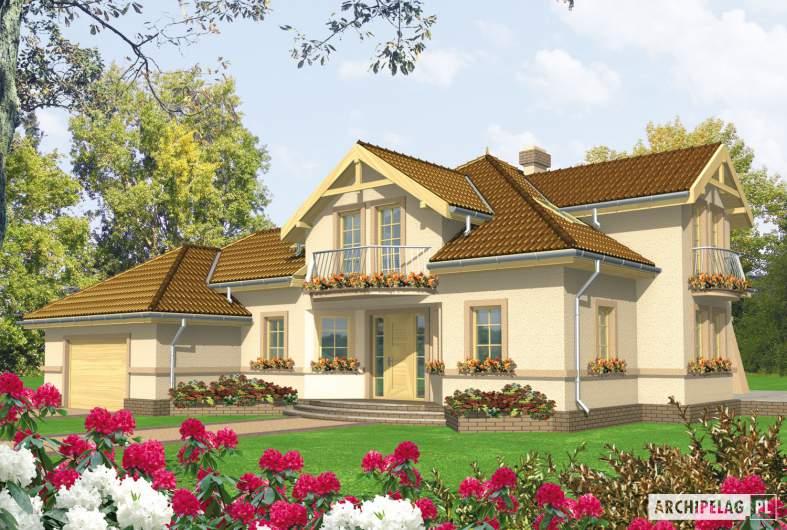 Projekt domu Artemida G2 - wizualizacja frontowa