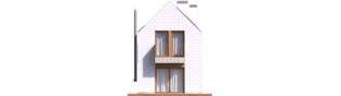 Projekt domu Moniczka II (wersja D) - elewacja tylna