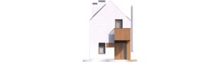 Projekt domu Moniczka II (wersja D) - elewacja frontowa