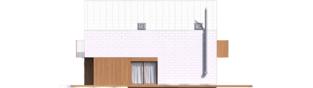 Projekt domu Moniczka II (wersja D) - elewacja prawa