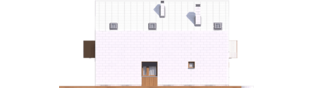 Projekt domu Moniczka II (wersja D) - elewacja lewa