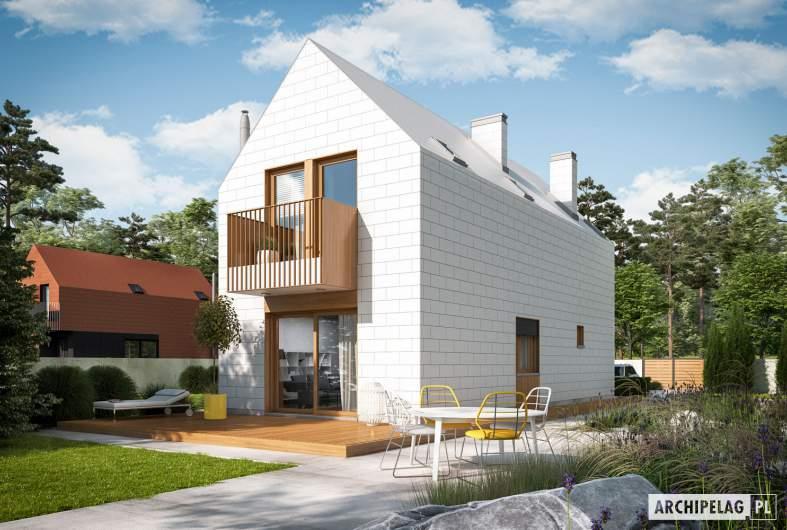 Projekt domu Moniczka II (wersja D) - wizualizacja ogrodowa