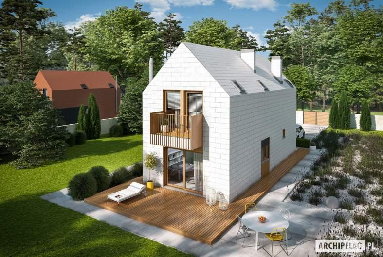 Projekt domu Moniczka II (wersja D) - widok z góry