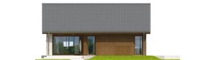 Projekt domu Rafael V - elewacja tylna