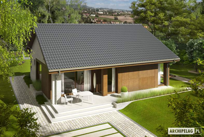 Projekt domu Rafael V - widok z góry