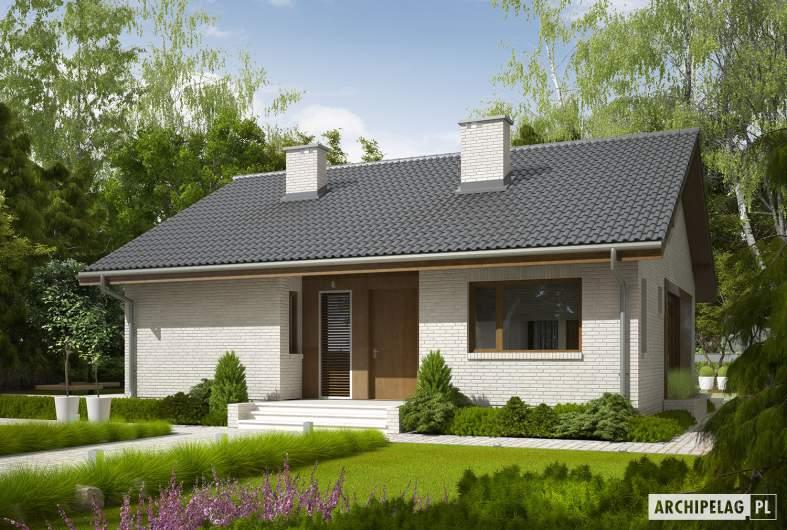 Projekt domu Rafael V - wizualizacja frontowa