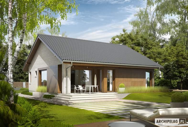 Projekt domu Rafael V - wizualizacja ogrodowa