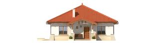 Projekt domu Edyta (e. II) - elewacja frontowa