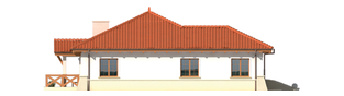 Projekt domu Edyta (e. II) - elewacja prawa