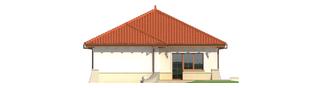 Projekt domu Edyta (e. II) - elewacja tylna