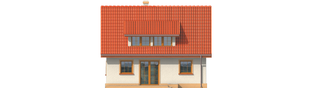 Projekt domu Calineczka - elewacja tylna