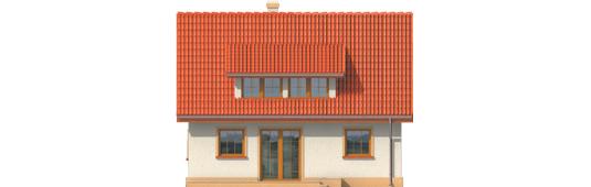 Calineczka - Projekty domów ARCHIPELAG - Calineczka - elewacja tylna