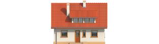 Projekt domu Calineczka - elewacja frontowa