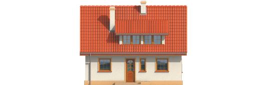 Calineczka - Projekty domów ARCHIPELAG - Calineczka - elewacja frontowa