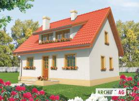 Projekt domu Calineczka - animacja projektu