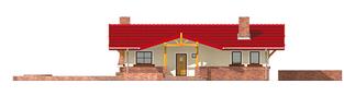 Projekt domu Emilia - elewacja frontowa